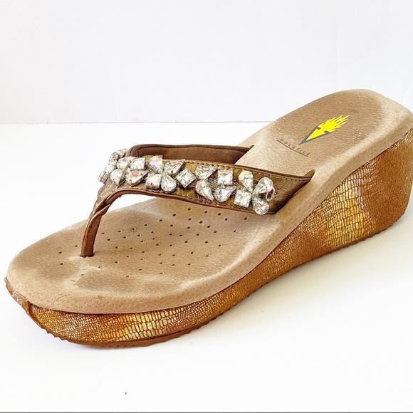 Fun metallic rhinestone sandal